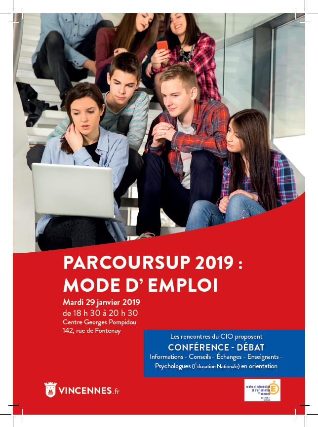 Flyer conférence-débat Parcoursup par le CIO de Vincennes
