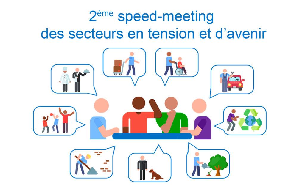 Logo 2e speed meeting métiers en tension Académie de Créteil