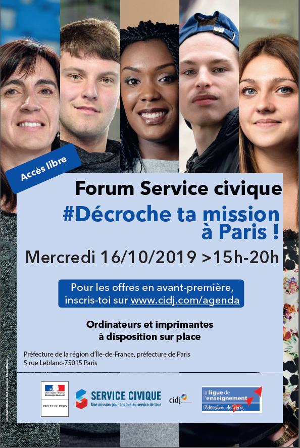 """Affiche du forum """"décroche ta mission"""""""